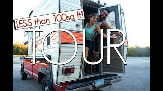 Download Truck Camper Tour | Young Couple Traveling & Living Off The Grid Video