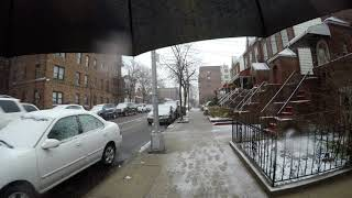 Download ⁴ᴷ Walking to work in NYC during 2018 Nor'easter Storm Skylar from Astoria to Long Island City Video