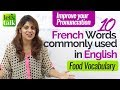 Download 10 French words used in English - Free English lesson online - Improve your English Pronunciation Video