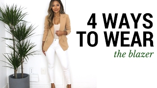 Download 4 Ways to Wear The Blazer | How to Style The Blazer + Outfit Ideas + Lookbook Video