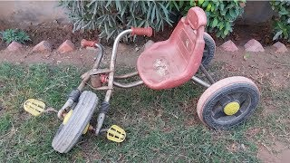 Download Old and Rusted Kids Bicycle Restoration Video