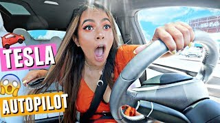 Download DOING MY HAIR ON TESLA AUTOPILOT! Love my late and poor time management skills🙃🙃🙃 Video