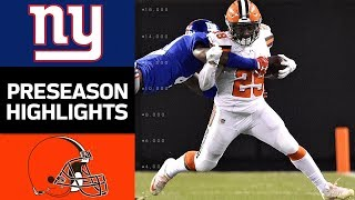Download Giants vs. Browns | NFL Preseason Week 2 Game Highlights Video
