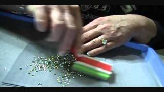 Download How to make a Rhinestone Transfer, 2 Color Using Flock template material.wmv Video