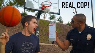 Download Challenging a POLICE OFFICER to Basketball Trick Shot HORSE! Video