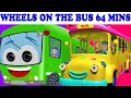 Download Wheels On The Bus | 64 Minutes Compilation | Lots More Nursery Rhymes Video