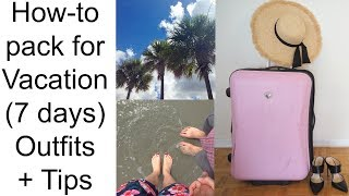 Download WHAT TO PACK ON VACATION (7 days): Outfits + Tips from a stylist Video