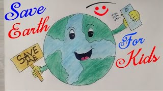 Easy Drawing For Earth Day Save Earth Save Life Draw Step By