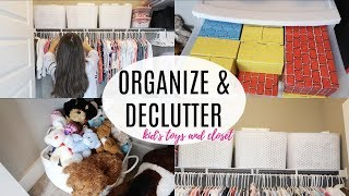 Download ORGANIZE AND DECLUTTER WITH ME 2018 // ORGANIZE KIDS CLOSET // TOY ORGANIZATION Video