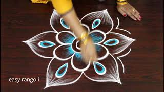 Download Beautiful & Creative Muggulu with colors - Daily routine rangoli kolam designs Video
