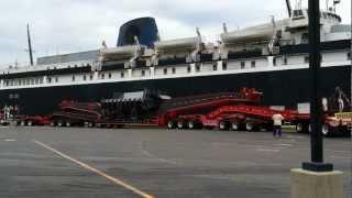 Download Huge Oversize Preparing To Board The S.S. Badger (Part 1 of 2) Video