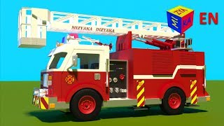 Download Fire truck responding to call - construction game cartoon for children Video