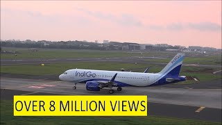 Download 4 Beautiful Landings & Takeoffs of Indigo Airbus A320 at Mumbai During Colourful Dusk !!! Video