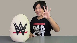 Download Giant WWE Play Doh Surprise Egg John Cena TheRock C3 Figures & FUNKO Vinyl Toys Blind Bags Surprises Video