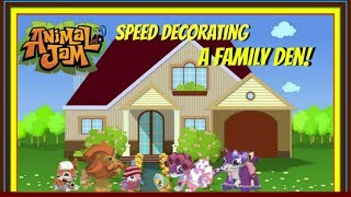 Download Animal Jam: Speed Decorating A Big Family Den! Video