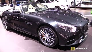 Download 2018 Mercedes AMG GT-C Roadster - Exterior and Interior Walkaround - 2017 New York Auto Show Video