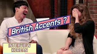 Download Korean guys learn British Accents for the first time from a British woman Video