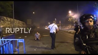 Download East Jerusalem: Clashes between worshippers and security forces continue outside Temple Mount Video