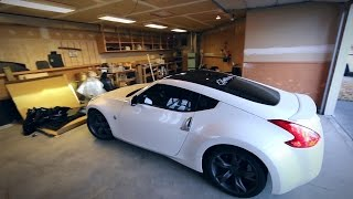 Download Wrapping a 370z's roof in Gloss Blvck Video