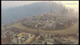 Download Chile Fires: Drone images showed entire neighbourhoods reduced to ashes. Video