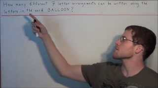 Download Letter Arrangement Problems (Permutations with Repetitions) Video