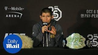 Download UFC champion Khabib Nurmagomedov apologises for post-fight brawl Video