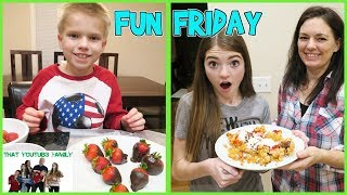 Download FUN FRIDAY FUNNEL CAKES and CHOCOLATE STRAWBERRIES / That YouTub3 Family Video