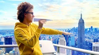 Download THROWING A PAPER AIRPLANE FROM THE 78TH STORY! *WORLD RECORD* Video