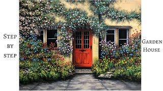 Download ColorbyFeliks: Step by Step Garden House Acrylic Painting Video