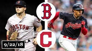 Download Boston Red Sox vs Cleveland Indians Highlights || September 22, 2018 Video