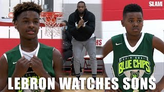Download LeBron James watches Bronny and Bryce BALL on OLDER competition! LeBron James Jr and Bryce Maximus Video