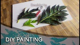 Download DIY Painting - Cat dinding motif daun - Paint leaf pattern Video