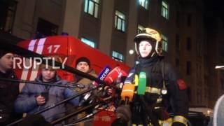 Download Russia: 200 people evacuated from Burdenko Hospital in fire emergency Video