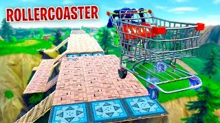 Download BUILDING OUR FIRST ROLLERCOASTER in Fortnite Video