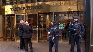 Download Secret Service works to secure Trump Tower Video