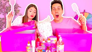 Download FARE LO SLIME SOLO CON INGREDIENTI ROSA CHALLENGE!! Video
