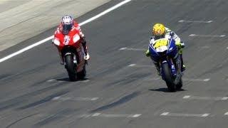Download MotoGP Historic Battles - Rossi vs Stoner Laguna Seca 08' Video