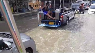 Download Pattaya - Streets under water after heavy rain Video