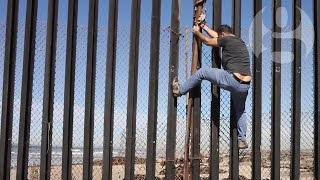 Download Palestinian artist at Mexico/US border: 'Can I jump?' | Crossing the line Video