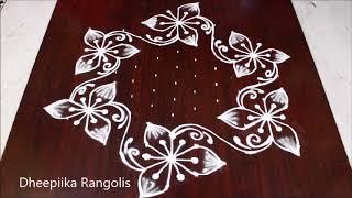 Download simple & easy rangoli design with 11x6 dots l latest kolam designs l chukkala muggulu designs Video