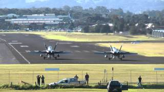Download F/A-18 Hornets - 30-40 knot Cross Wind Take-Off Video