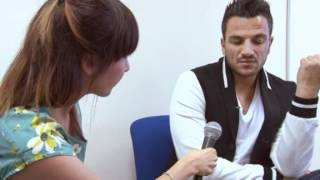 Download Peter Andre shocked when reporter reveals she has cancer Video