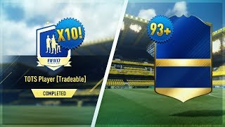 Download OMG 93+ TOTS IN A PACK! 10X GUARANTEED TOTS PACKS!! - (FIFA 17 #TOTS PACK OPENING) Video