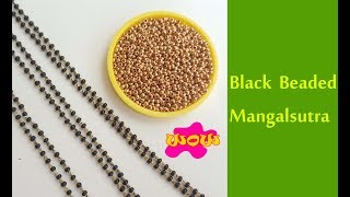 Download How to make Mangalsutra with black Beads || Latest model mangalsutra with silk thread Video
