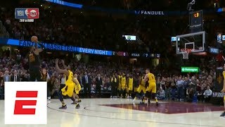 Download Full sequence: LeBron James blocks Victor Oladipo, hits game-winning 3 in Game 5 vs. Pacers | ESPN Video