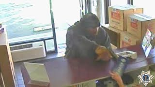 Download Surveillance footage of armed robbery in San Jose Video