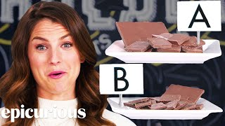 Download Chocolate Expert Guesses Cheap vs. Expensive Chocolate | Price Points | Epicurious Video