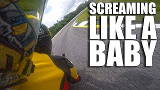 Download Man SCREAMS Like A Baby On Motorcycle Video
