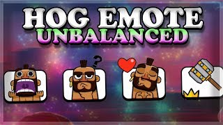 Download Hog Emotes are OVERPOWERED | Clash Royale 🍊 Video
