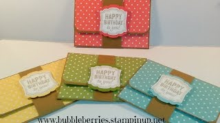 Download Quick and Easy Gift Card/Money Wallet using Stampin' Up! Video